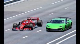 Ferrari-F1-2018-vs-Lamborghini-Huracan-Performante-2019-TOP-SPEED-BATTLE