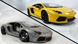 Restoration-Damaged-Lamborghini-Old-SuperCar-Aventador-Model-Car-Restoration